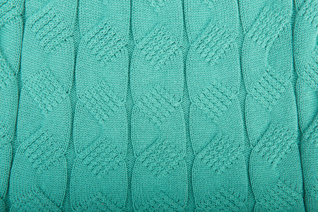 acrylic yarn: Green knitted background