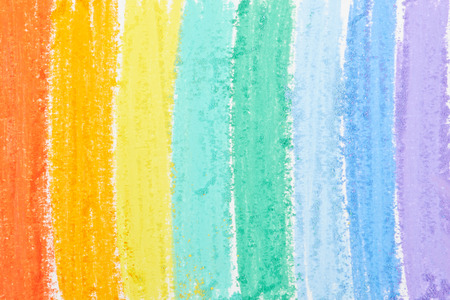 Rainbow background painted with pastels photo