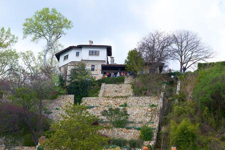 balchik: BULGARIA, BALCHIK, APRIL 17, 2015: Botanic Park, an architectural complex in Balchik Bulgaria Editorial