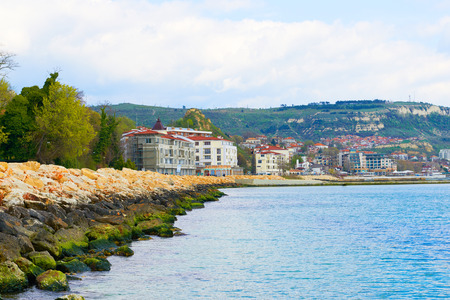 seafront: Seafront Resort Balchik Bulgaria Stock Photo
