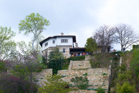 balchik: BULGARIA, BALCHIK, APRIL 17, 2015: Botanic Park, an architectural complex in Balchik Bulgaria Editorial