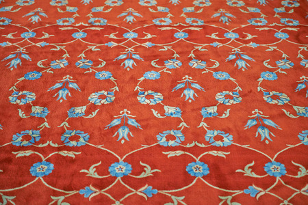 Turkish carpet with traditional ornaments photo