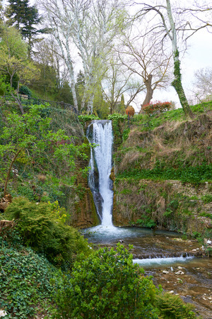 balchik: Waterfall in the botanical garden in Balchik Bulgaria