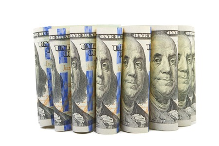 benjamin: Hundred dollar bills Portrait of Benjamin Franklin