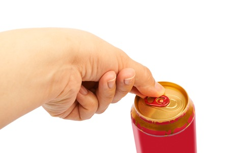 inhibited: Hand opening a can of beer