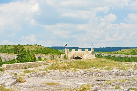 lowering: The landscape in Bulgaria at Provadia Ovech Fortress on the mountain