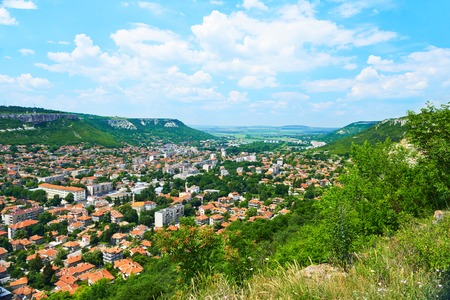 City view with mountains in Provadia in Bulgaria