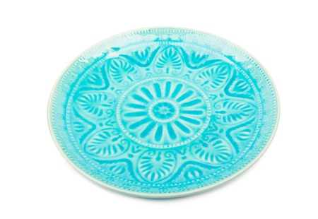 Ceramic plate isolated Stock Photo