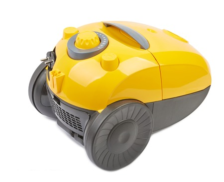 aspirator: Vacuum cleaner body yellow isolated on white background