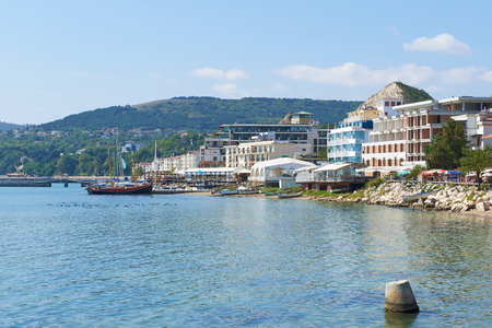 balchik: Summer cityscape of Balchik resort town, Coast of Black Sea, Varna region, Bulgaria