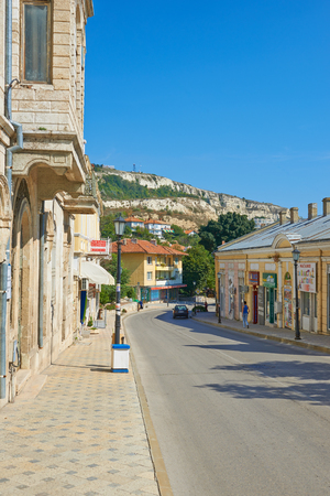 balchik: Streets of the town of Balchik in Bulgaria