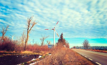 energy production: Windmills for renewable electric energy production, landscape