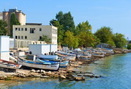 balchik: Seafront city of Balchik in Bulgaria, nature landscape Stock Photo