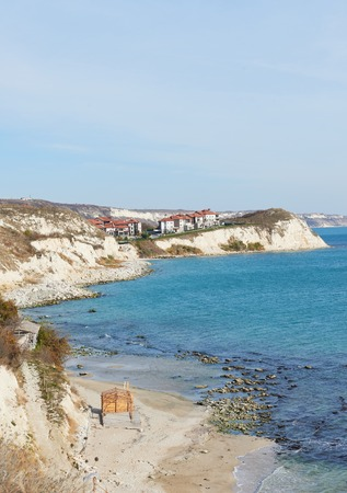 balchik: Seafront city of Balchik in Bulgaria, nature landscape Stock Photo