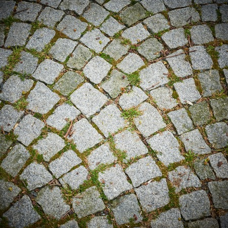 Various cobblestone road surface for background or texture Stockfoto
