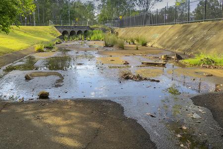 Open storm water drain