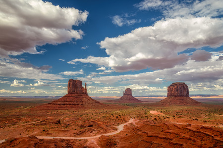 navajo land: The famous Buttes of Monument Valley, Utah, USA
