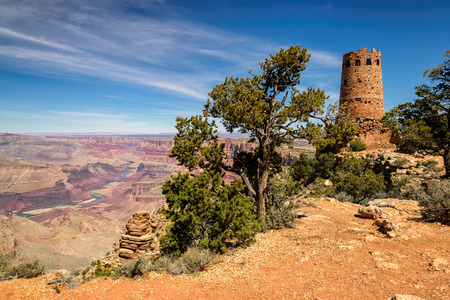 Grand Canyon watchtower at the desert view overlook