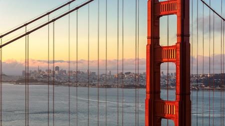 san francisco: Sunrise in San Francisco Stock Photo