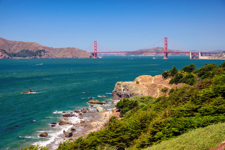 golden: Golden Gate Bay, San Francisco Stock Photo