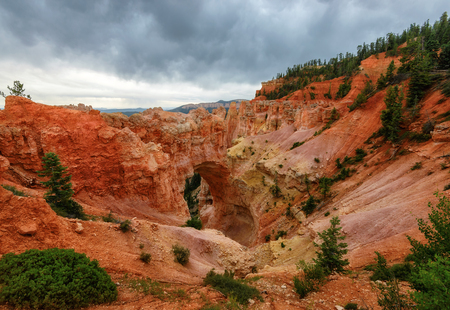 plateau point: Natural Bridge Point in Bryce Canyon National Park Stock Photo
