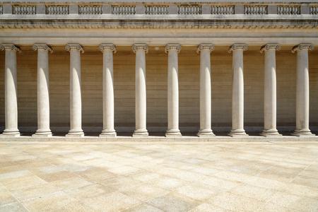 Colonnade, Pillars in retro style Editorial