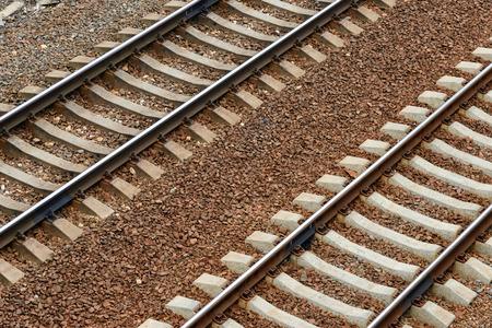 railway tracks: Two railway tracks