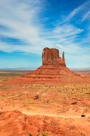 Monument valley under the blue sky, Arizona, USA