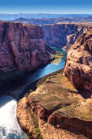 glen: Colorado River in Glen Canyon, Horseshoe Bend, Arizona
