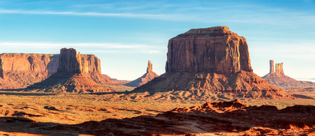 Panoramic landscape of Monument Valley, Utah, USA. Stock Photo