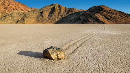 Racetrack Playa is a scenic dry lake feature with sailing stones in Death Valley National Park
