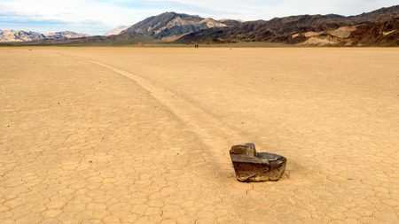 The Racetrack Playa, or The Racetrack, is a scenic dry lake feature with sailing stones