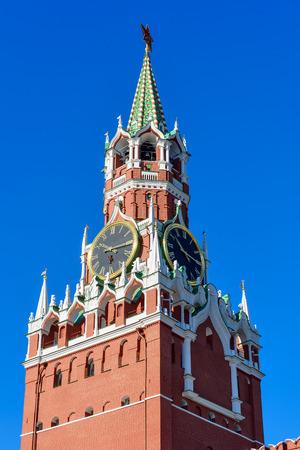 spasskaya: Moscow Kremlin, Red Square. Spasskaya Tower and Kremlin clock