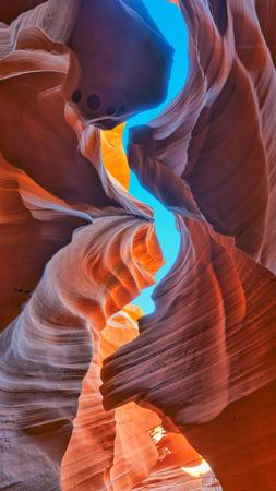 crevice: Lower Antelope Canyon, Arizona Stock Photo