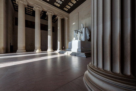 abraham: Abraham Lincoln Memorial building Washington DC, USA