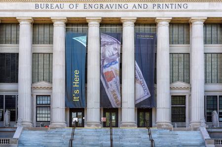 United States Bureau of Engraving and Printing Building. Washington DC Editorial