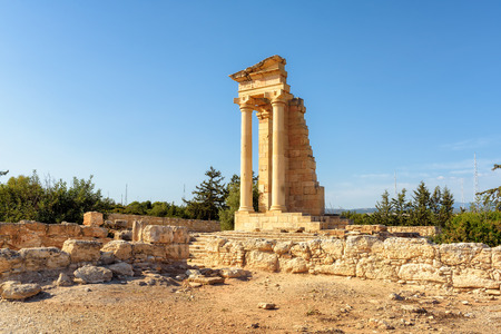 Ruins of the Sanctuary of Apollo Hylates - main religious centres of ancient Cyprus, one of the most popular place