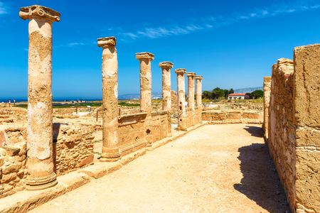 byzantium: Ancient Columns sited on Famous attractions in Paphos city