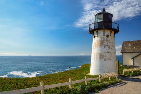 California lighthouse, Point Montara Lighthouse Stock Photo
