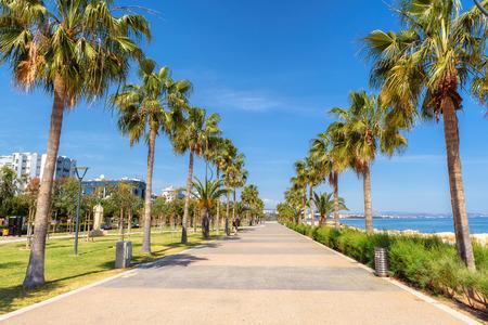 Promenade alley in Limassol, Cyprus Stock Photo