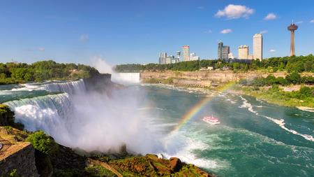 Landscape Niagara Falls and Rainbow