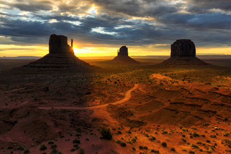 Sunrise at Monument Valley, Arizona,