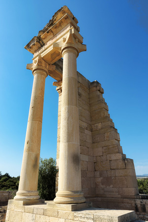 Limassol, Cyprus, ruins of the ancient Apollo Hylates sanctuary and temple. Stock Photo