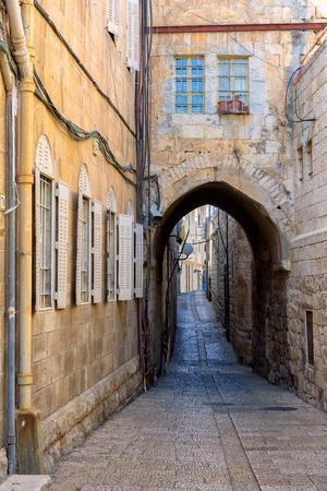 Jerusalem Old City Street, Israel.