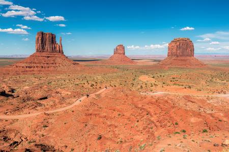 Clasic view at Monument Valley, Arizona, USA Stock Photo