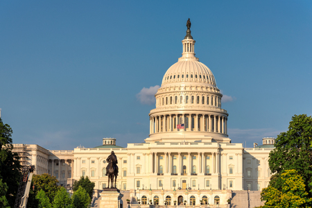 The United States Capitol building at sunset in Washington DC, USA. Stock Photo