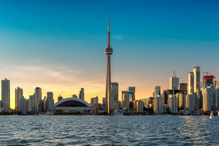 Toronto City skyline at sunset, Toronto, Ontario, Canada. Stockfoto