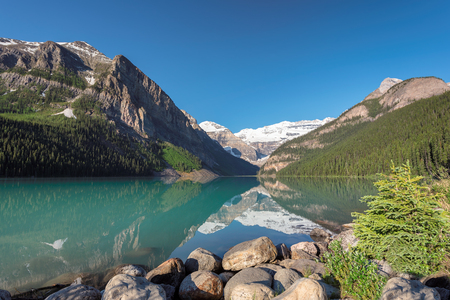 Beautiful view of Lake Louise in Banff National Park, Canada.