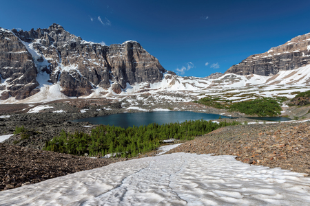 Canadian Rockies - Eiffel lake in Banff National Park of Canada Stock Photo