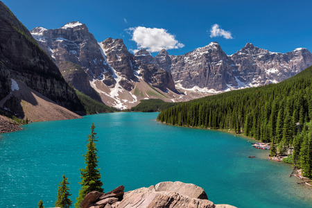Moraine Lake in Banff National Park of Canada